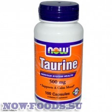 Таурин 100 капсул - NOW Taurine