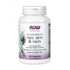 NOW Hair, skin & nails-Дермал Клиникал Комплекс-БАД,  90 капсул