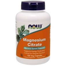 NOW Magnesium Citrate- Магний цитрат БАД 120 капсул